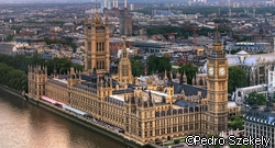 Also from my 2004 archives. The Houses of Parliament in London. I think this is the view from the London Eye. To process the shot I first cleaned up the noise with Imagenomic Noiseware, and the clonned out the smudges. Then used Photomatix Details Enhancement. In PS: - Nik Skylight filter - Freaky Details on the building - Curves with radial gradient to darken edges.